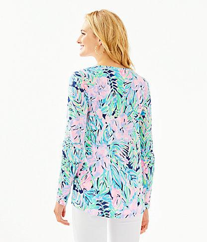 Etta Long Sleeve Top, Multi Bermudaful, large 1