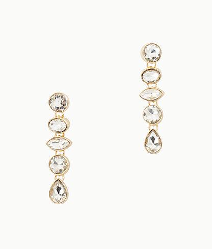 Paradise Earrings, Gold Metallic, large 0