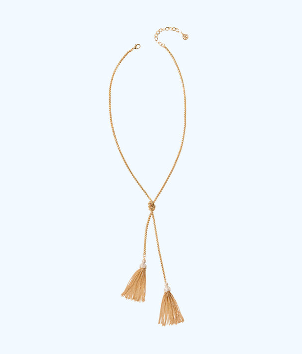 Shelly Bay Necklace, Gold Metallic, large