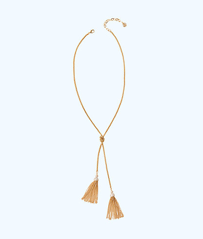 Shelly Bay Necklace, Gold Metallic, large 0