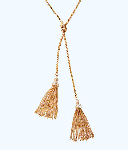 Shelly Bay Necklace, Gold Metallic, large 2