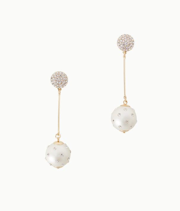 Cosmic Sky Pearl Drop Earrings, Resort White, large