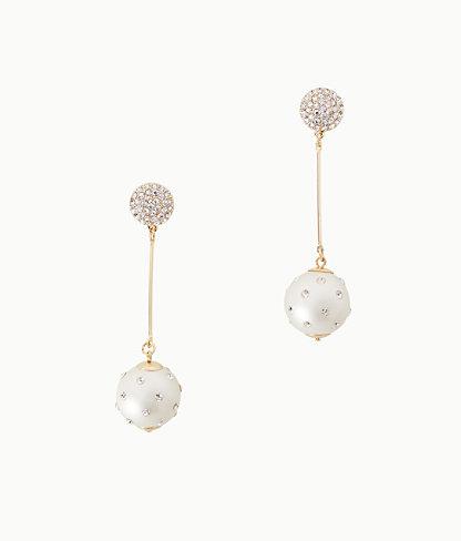 Cosmic Sky Pearl Drop Earrings, Resort White, large 0