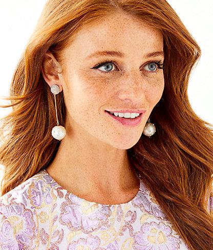 Cosmic Sky Pearl Drop Earrings, Resort White, large 1