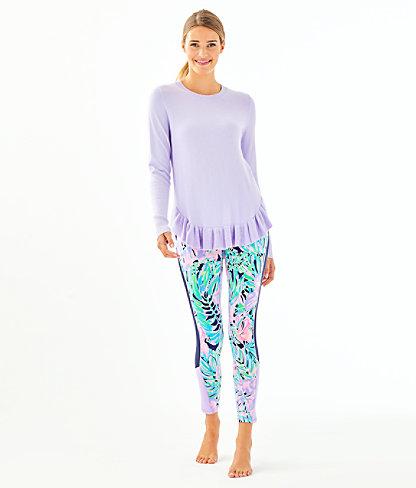 Estela Ruffle Sweater, Light Lilac Verbena, large 2