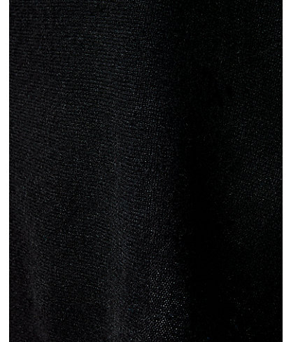 Harp Cashmere Wrap With Bows, Black, large 3