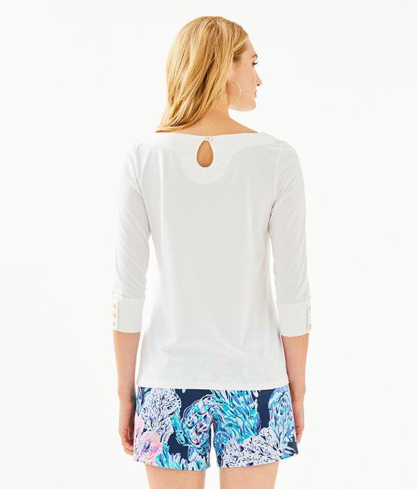 Salma Top, Resort White, large