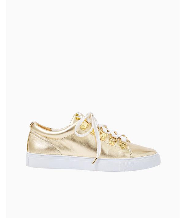 Hallie Sneaker, Gold Metallic, large