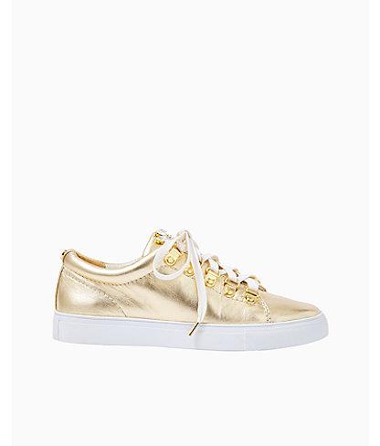 Hallie Sneaker, Gold Metallic, large 0
