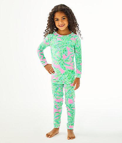 Girls Sammy Pajamas - Snug Fit, Mandevilla Baby Pink Sand Paradise, large 0