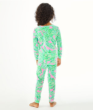 Girls Sammy Pajamas - Snug Fit, Mandevilla Baby Pink Sand Paradise, large