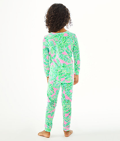 Girls Sammy Pajamas - Snug Fit, Mandevilla Baby Pink Sand Paradise, large 1