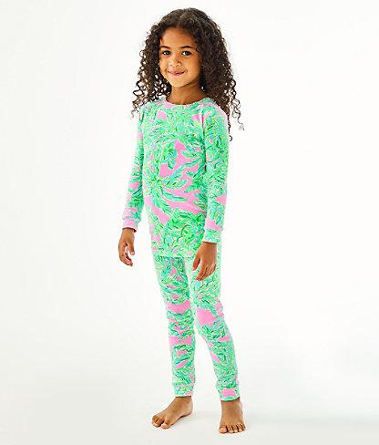Girls Sammy Pajamas - Snug Fit, Mandevilla Baby Pink Sand Paradise, large 2