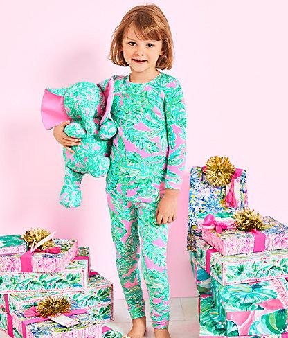 Girls Sammy Pajamas - Snug Fit, Mandevilla Baby Pink Sand Paradise, large 3