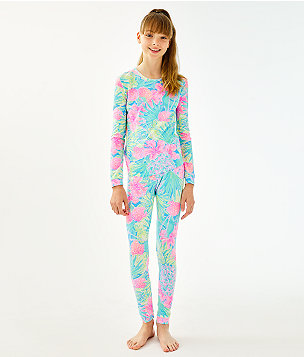 Girls Sammy Pajamas - Snug Fit, Multi Swizzle In Reduced, large