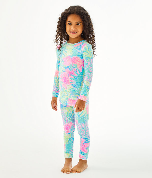 Girls Sammy Pajamas - Snug Fit, Multi Swizzle In Reduced, large