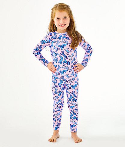 Girls Sammy Pajamas - Snug Fit, Zanzibar Blue Ruff Night, large 0