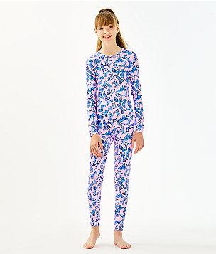 Girls Sammy Pajamas - Snug Fit, Zanzibar Blue Ruff Night, large