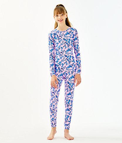 Girls Sammy Pajamas - Snug Fit, Zanzibar Blue Ruff Night, large 1