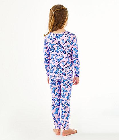 Girls Sammy Pajamas - Snug Fit, Zanzibar Blue Ruff Night, large 2