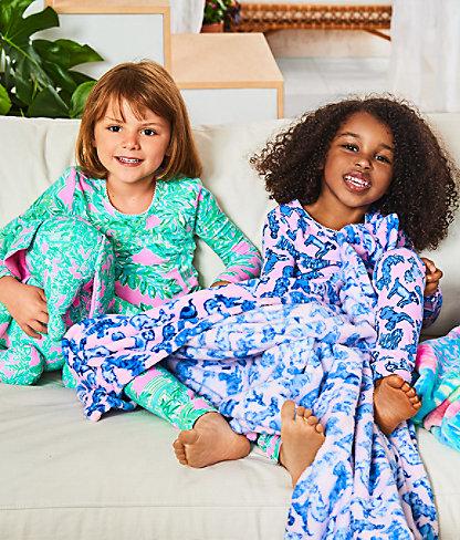 Girls Sammy Pajamas - Snug Fit, Zanzibar Blue Ruff Night, large 3