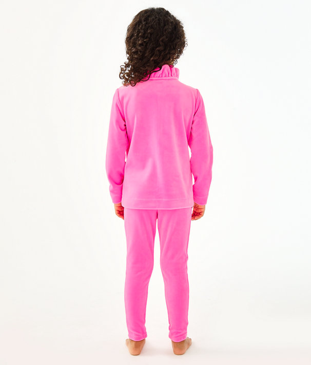 Girls Mini Jayla Velour Zip-Up, Prosecco Pink, large