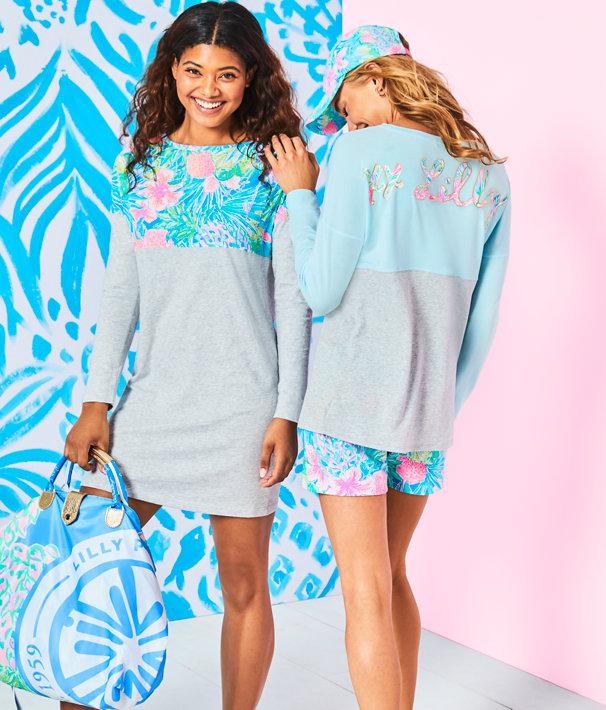 Finn T-Shirt Dress, Multi Swizzle In, large