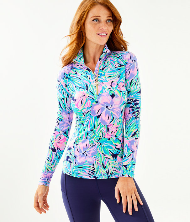 Upf 50+ Luxletic Justine Pullover by Lilly Pulitzer