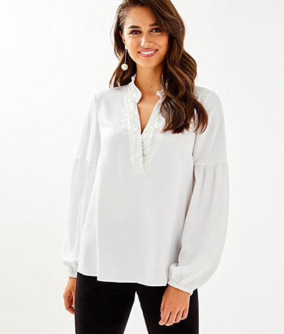 Shea Tunic Top, Resort White, large 0