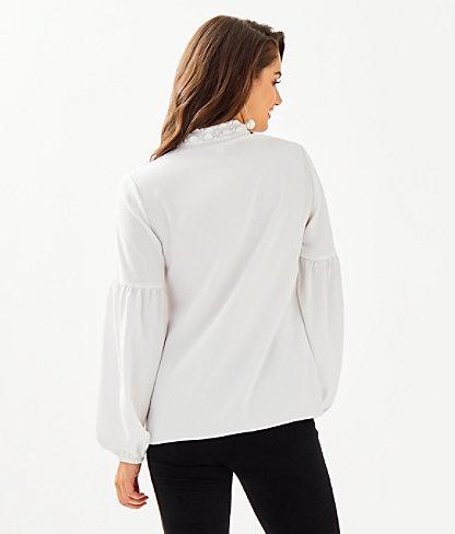 Shea Tunic Top, Resort White, large 1