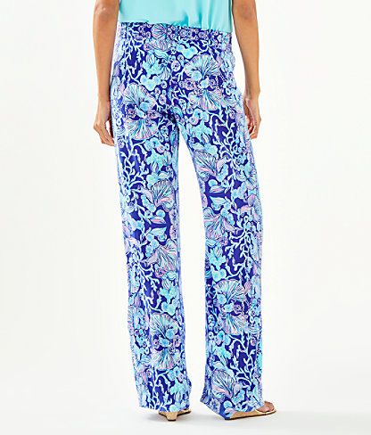 """33"""" Bal Harbour Mid-Rise Palazzo Pant, Lapis Lazuli Your Biggest Fan Engineered Palazzo, large 1"""