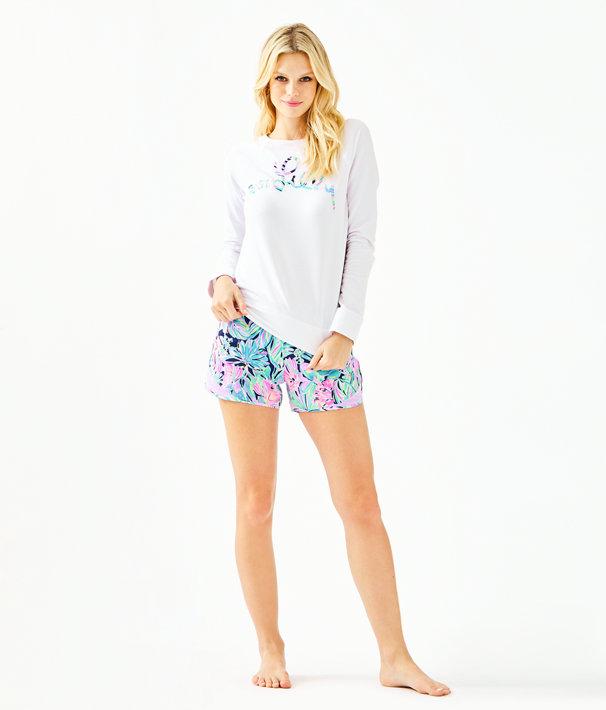 Elliana Pullover, Multi Bermudaful Applique, large