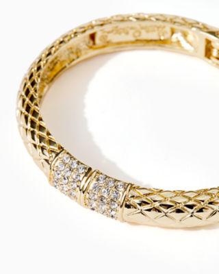 Sea Fan Bangle, Gold Metallic, large