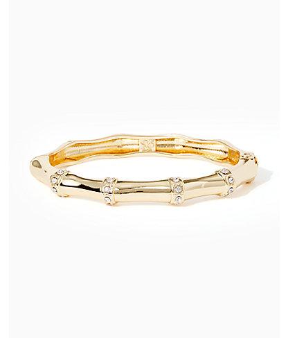 Bamboo Bracelet, Gold Metallic, large 0