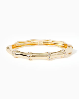 Bamboo Bracelet, Gold Metallic, large