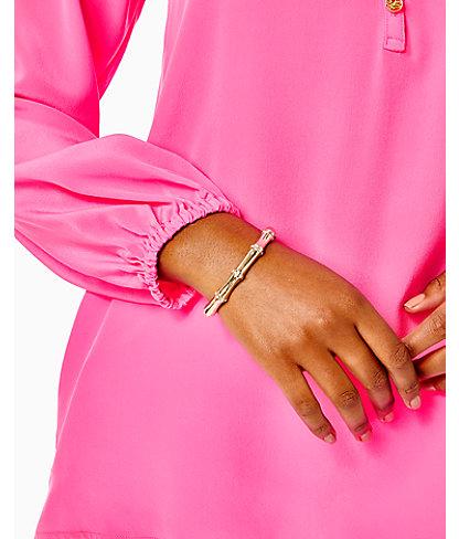 Bamboo Bracelet, Gold Metallic, large 1