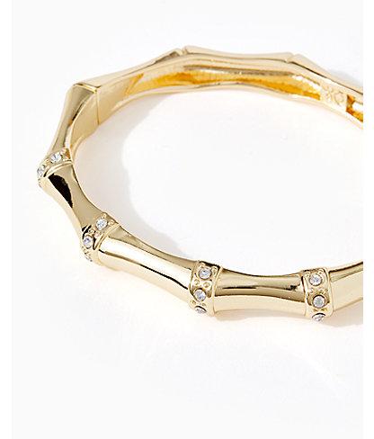 Bamboo Bracelet, Gold Metallic, large 2