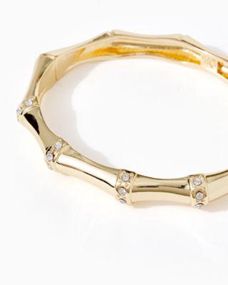 Bamboo Bracelet, Gold Metallic, large