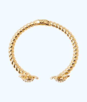 Glam Turtle Bracelet, Gold Metallic, large 1