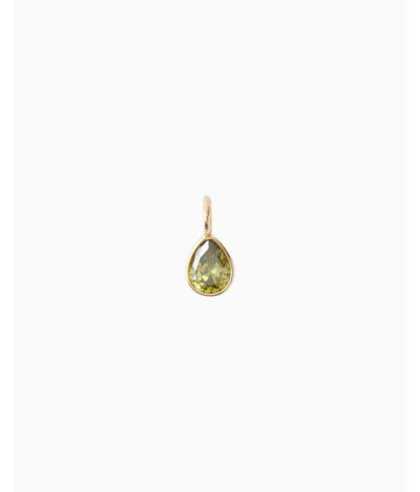 Birthstone Custom Charm, August X Peridot, large