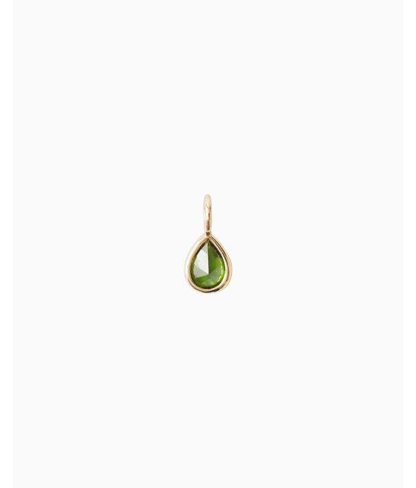 Birthstone Custom Charm, May X Emerald, large