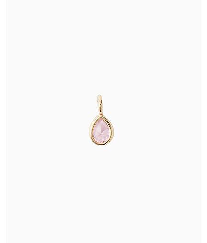 Birthstone Custom Charm, October X Pink Rose, large 1