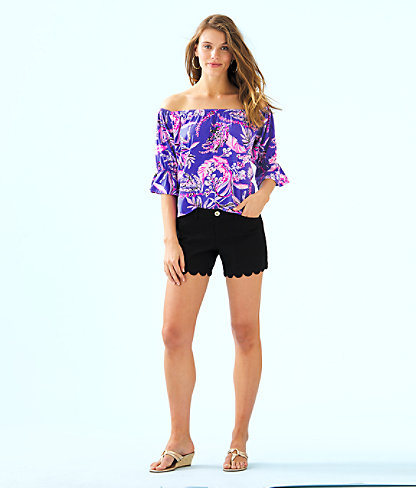 """5"""" Buttercup Stretch Short, Onyx, large 3"""