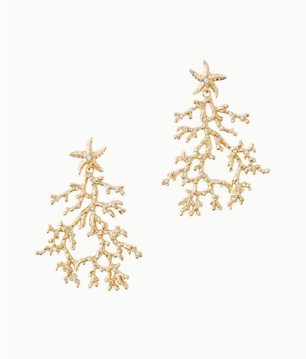 Cora Earrings, Gold Metallic, large