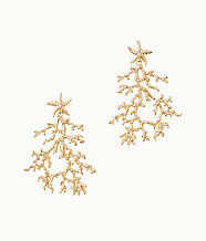 Cora Earrings, Gold Metallic, large