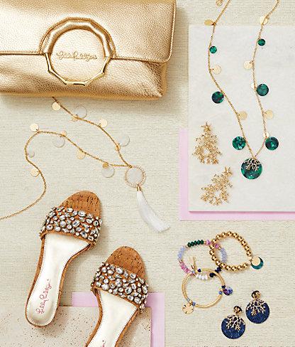Cora Earrings, Gold Metallic, large 3