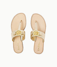 Rousseau Sandal, Gold Metallic, large