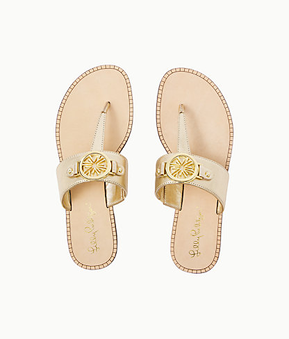 Lilly Pulitzer Rousseau Sandal In Gold Metallic