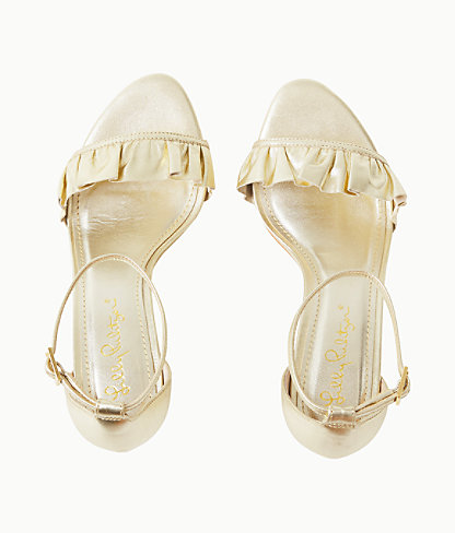 Carly Sandal, Gold Metallic, large 1