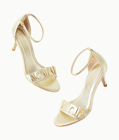 Carly Sandal, Gold Metallic, large 2